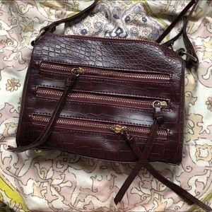 Burgundy snakeskin purse